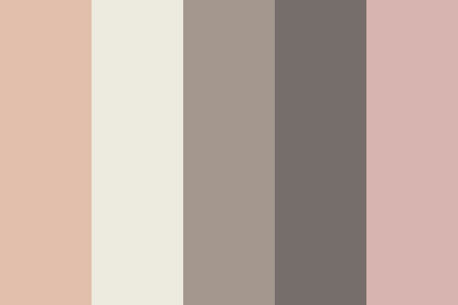 Blush And Neutral Color Palette