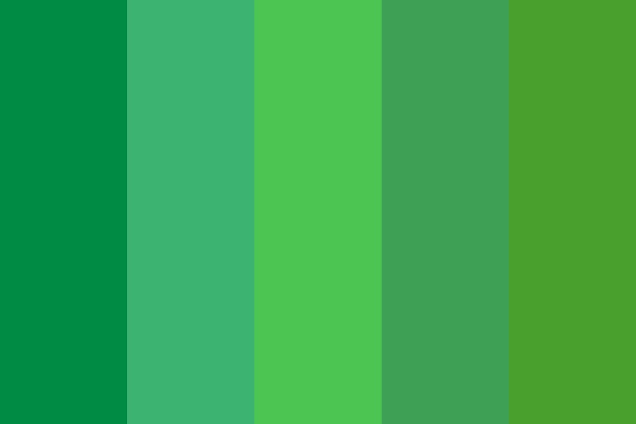Botanica Logo Greens Color Palette