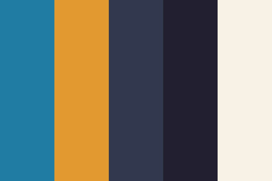Bright And Dark Color Palette