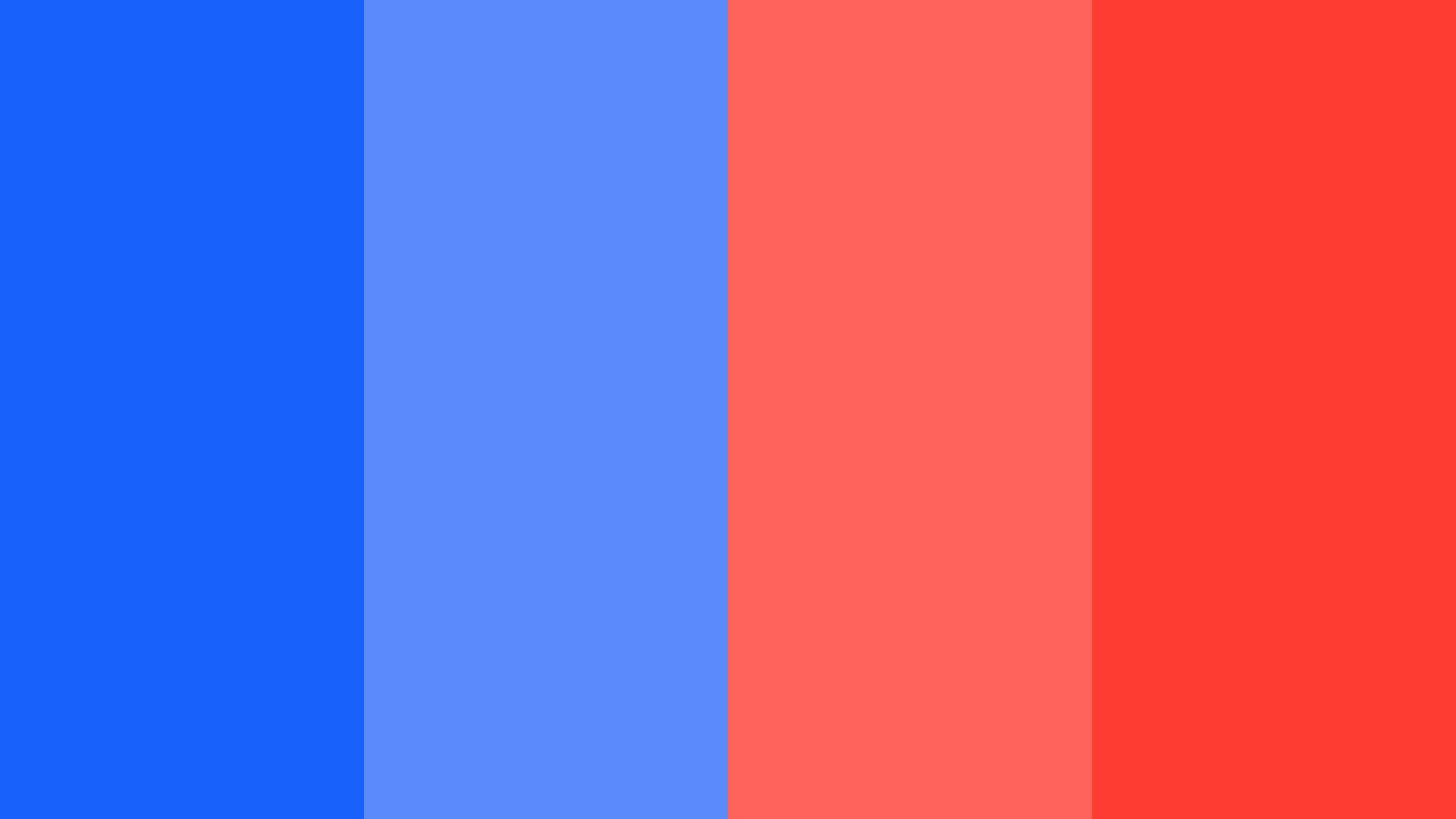 Bright Blue And Red Color Palette