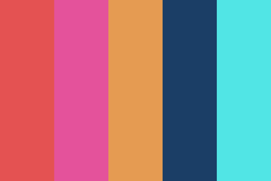 Bright But Muted Color Palette