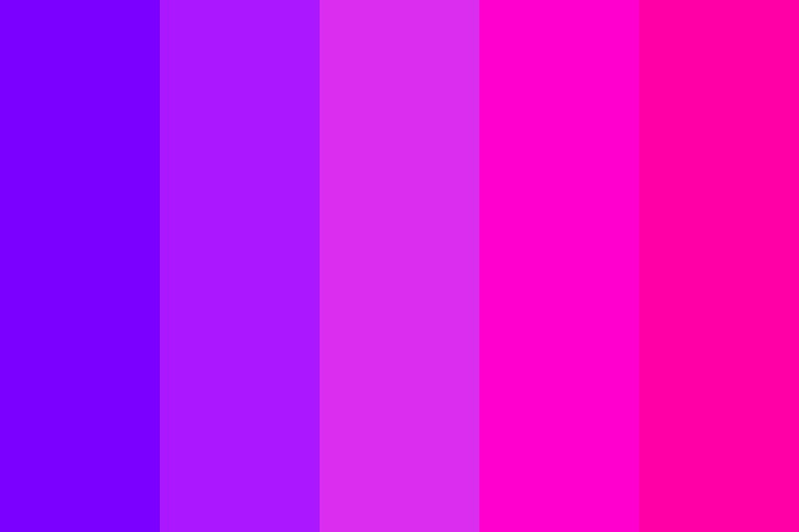 Bright Purples And Pinks Color Palette