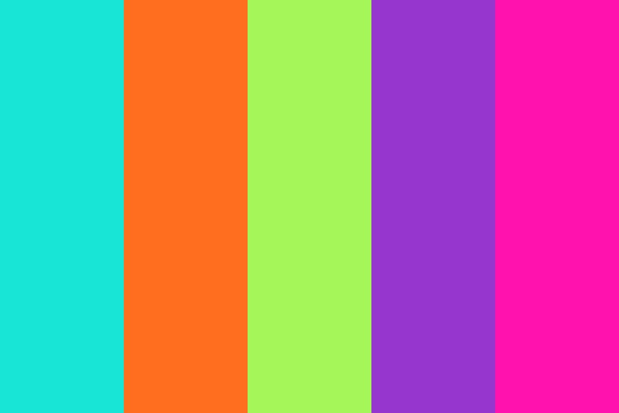 Bright Retro Color Palette