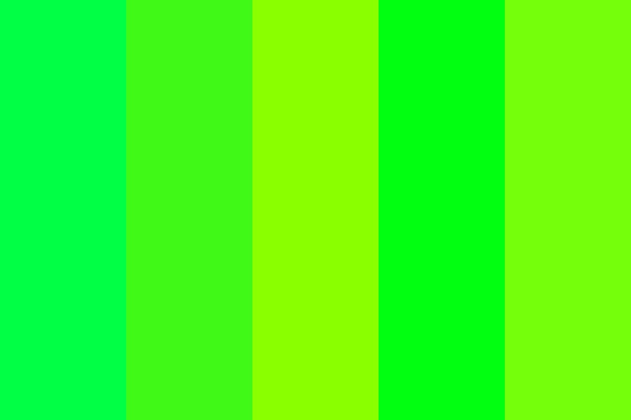 Bright Shades Of Green Color Palette