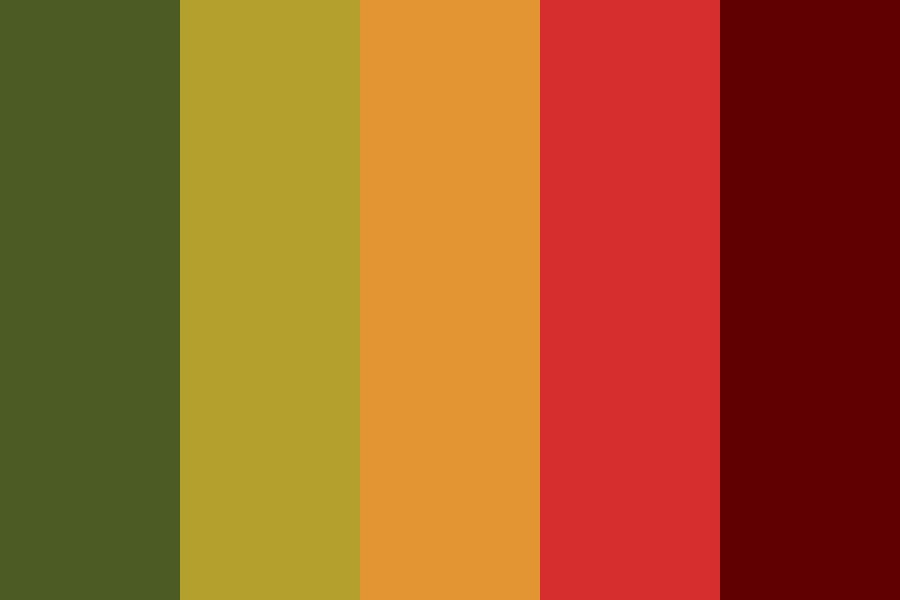 Bright Tomato Color Palette