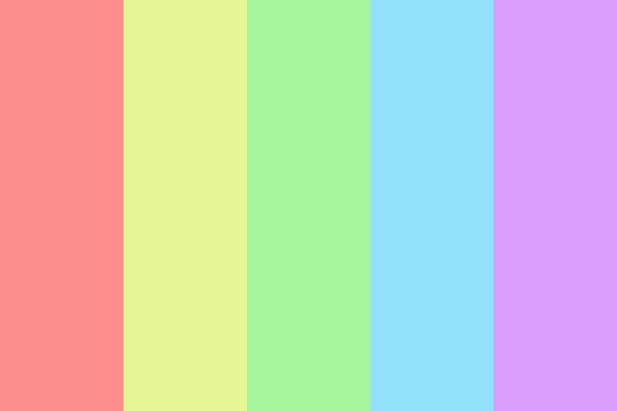 Brightly Pastel Color Palette