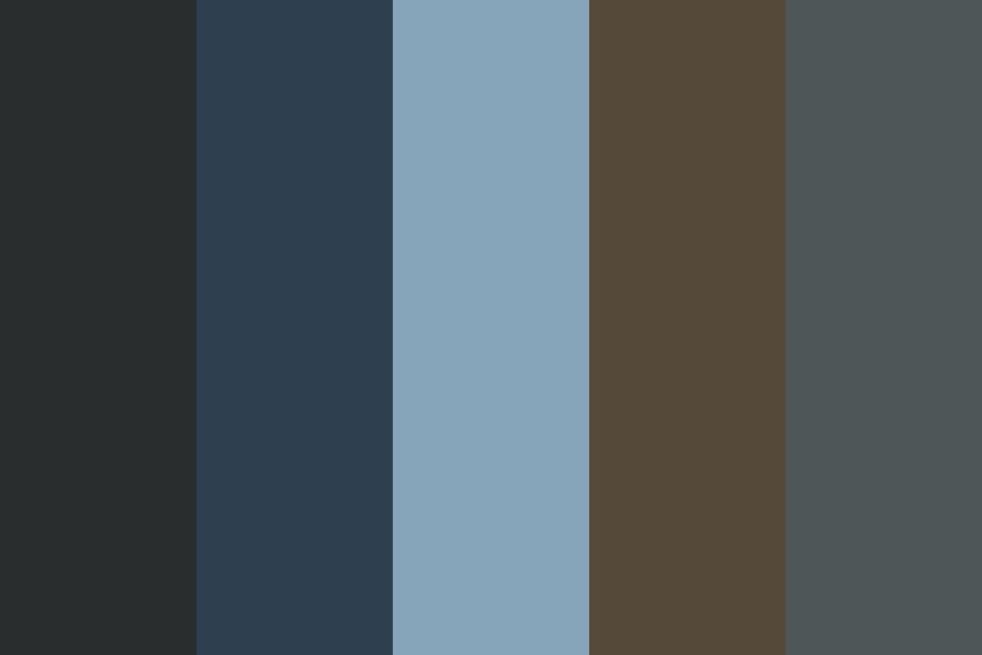 Brown And Blue And Blue Color Palette