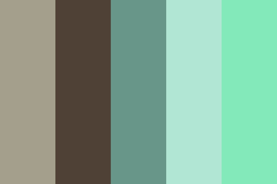 Brown And Blue Green Color Palette