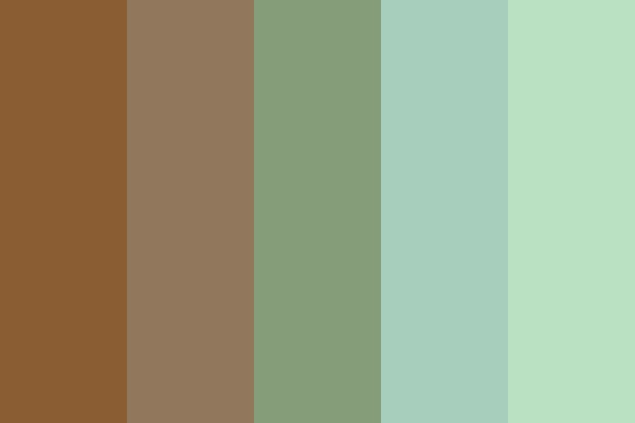 Brown Green Fade Color Palette