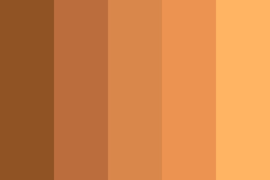 Brown Hair Color Palette