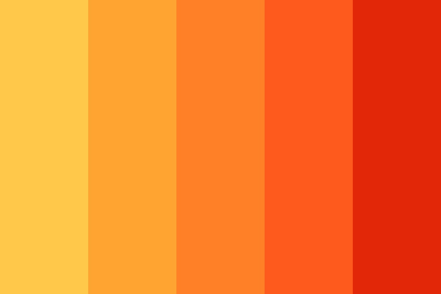 Bubbleorange Color Palette