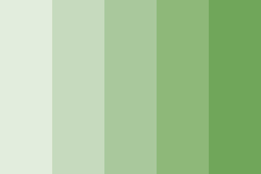 Build Up Green Color Palette