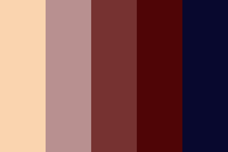 Burgundy And Navy Color Palette