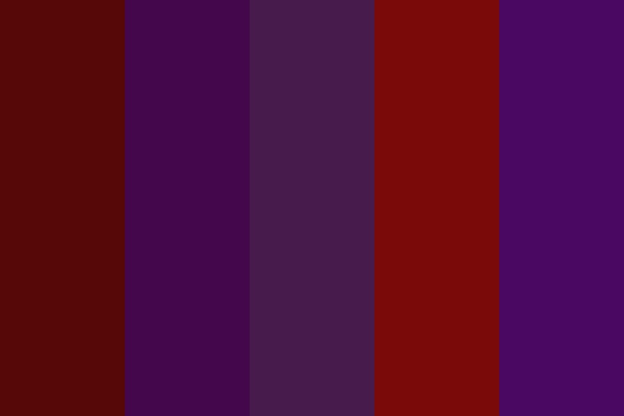 Burgundy Wine Color Palette