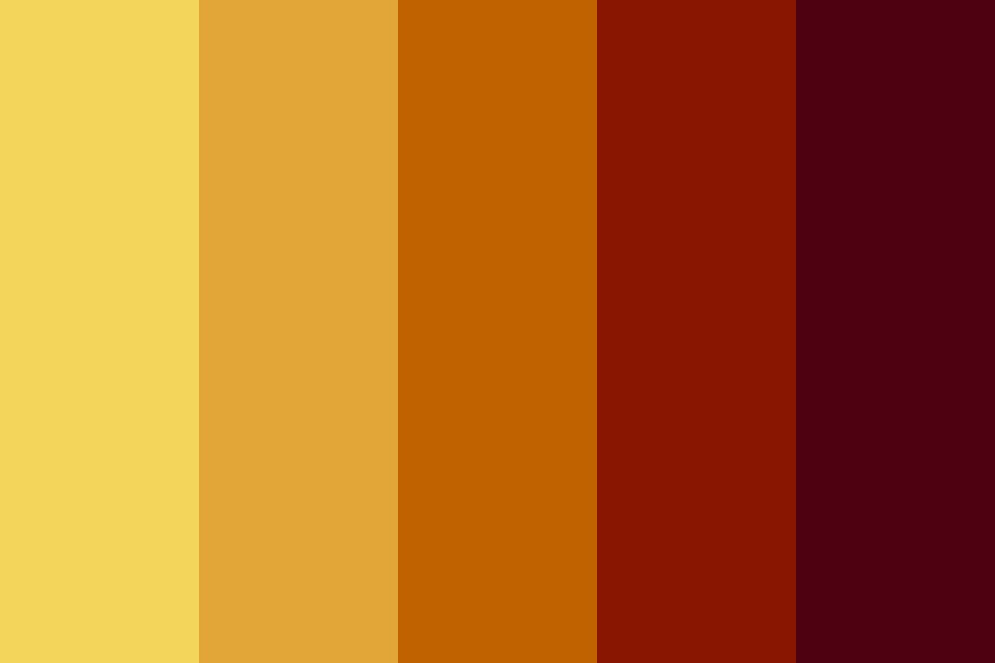 Burning In Fall Color Palette