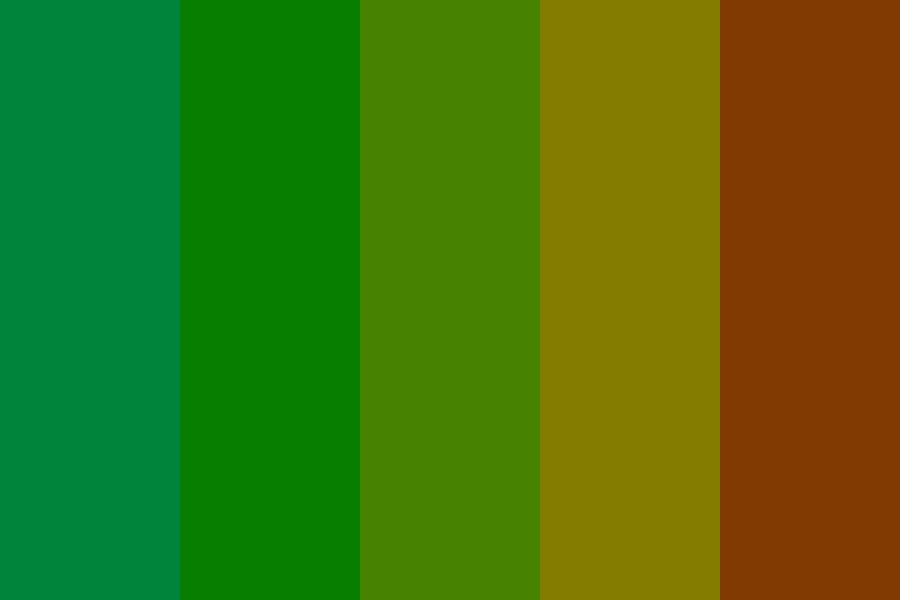 Burnt Jade Forest Color Palette