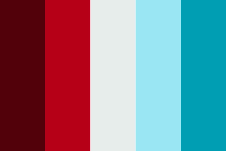 Burnt Orange Light Teal Blue Color Palette