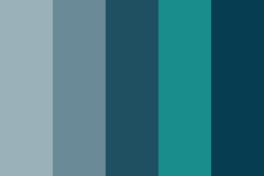 C Blues With Teal Color Palette