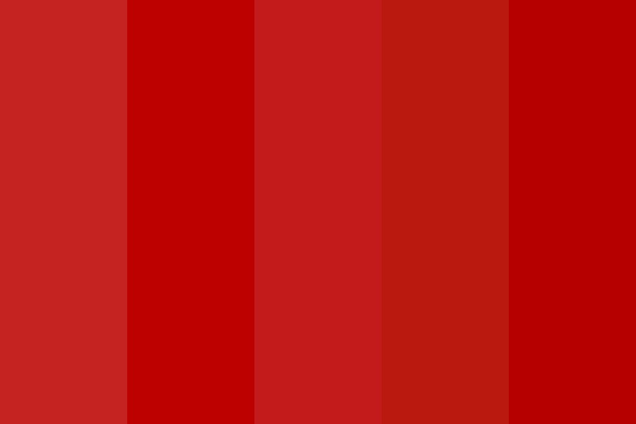 Callmejune   Seeing Red Color Palette