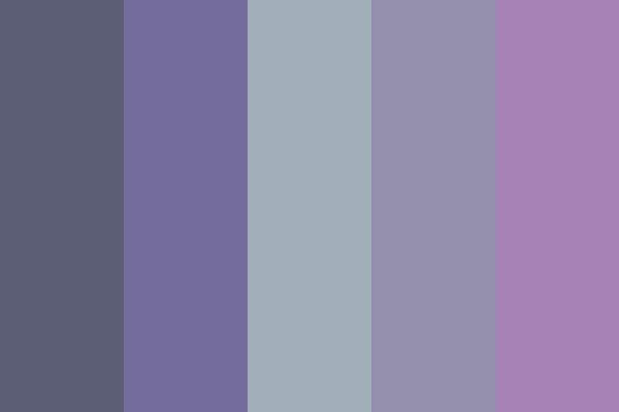 Calm And Dark Purples With Gray Color Palette