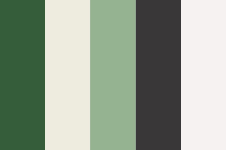 Charcoal And Green Color Palette