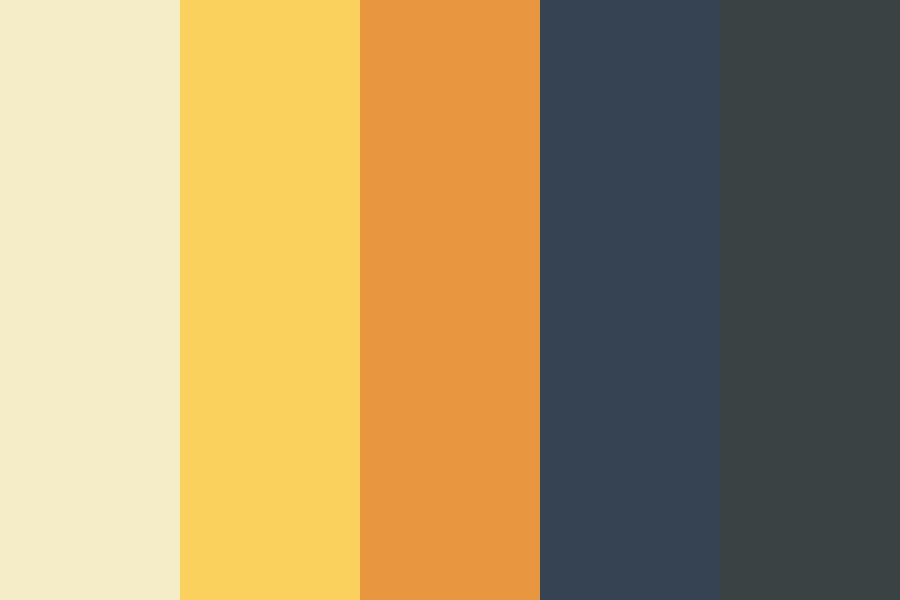 Charcoal Gold Color Palette
