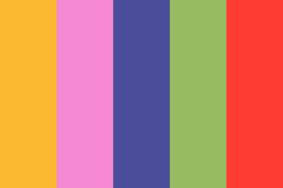 Charlie Brown Christmas Color Palette
