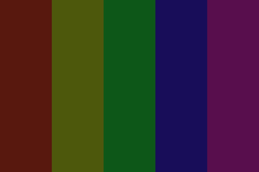 Charred Rainbow Color Palette