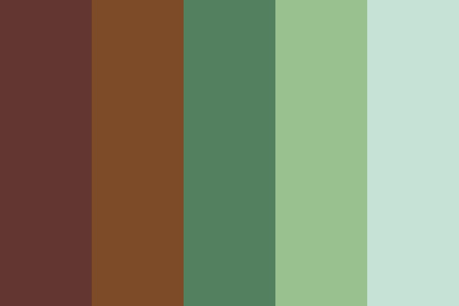 Chocolate Mint Brownie Color Palette