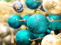 Christmas Ornaments Blue Color Palette