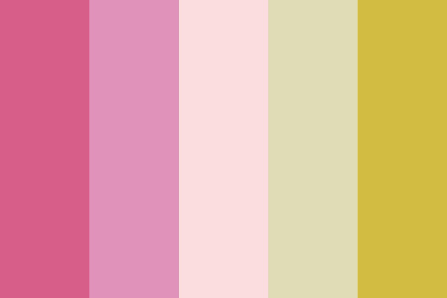 Citrus And Pinks Color Palette