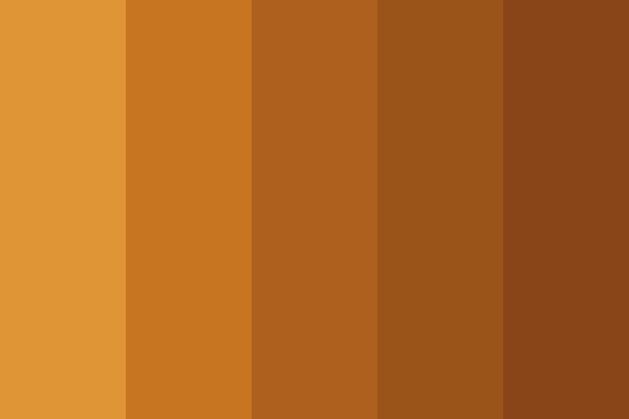 Citrus Browns Color Palette