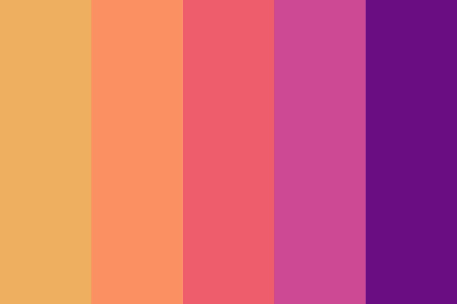 City Sunset Color Palette