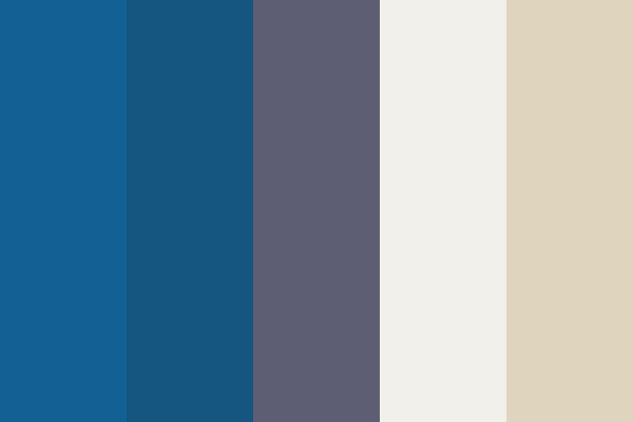 Classic Blues And Creams Color Palette
