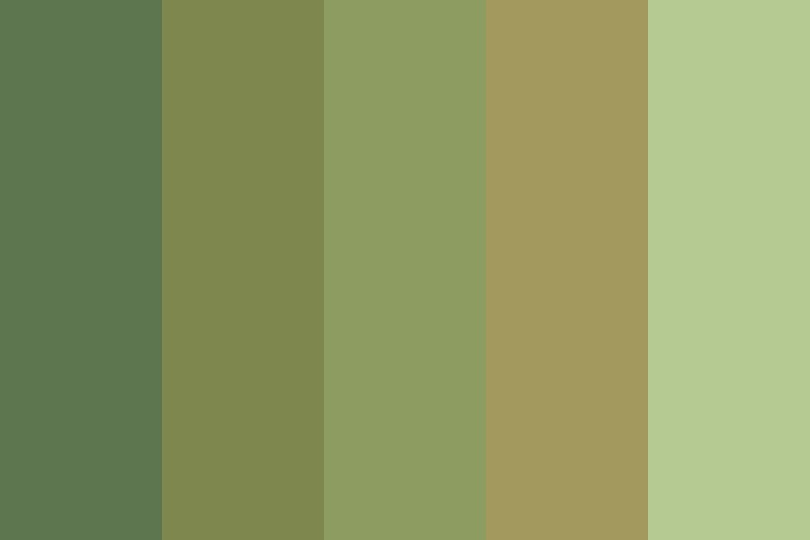 Clear Greens Color Palette