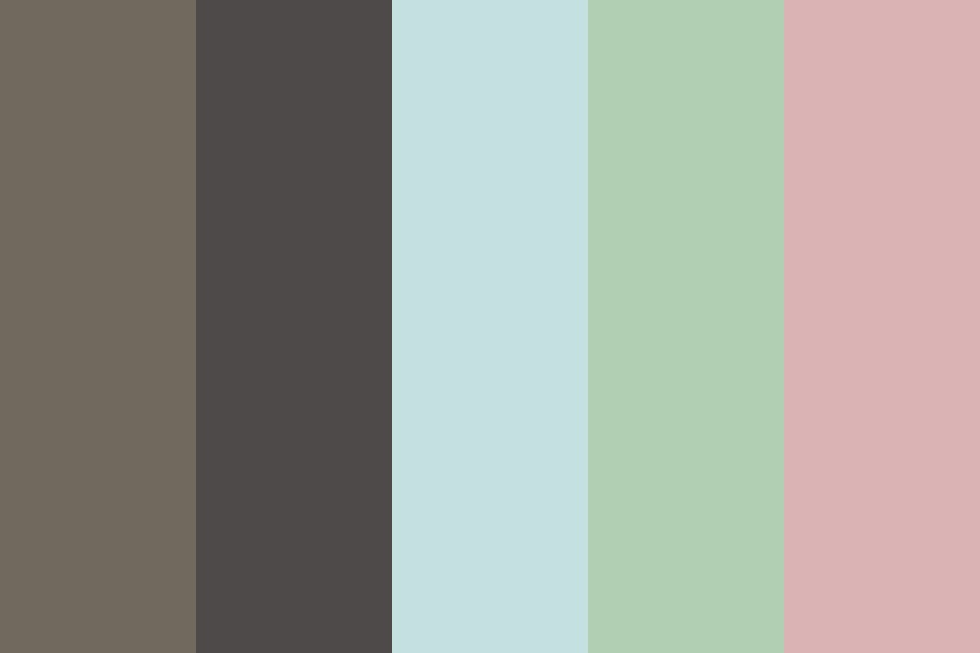 Coffee Shop On A Rainy Day Color Palette