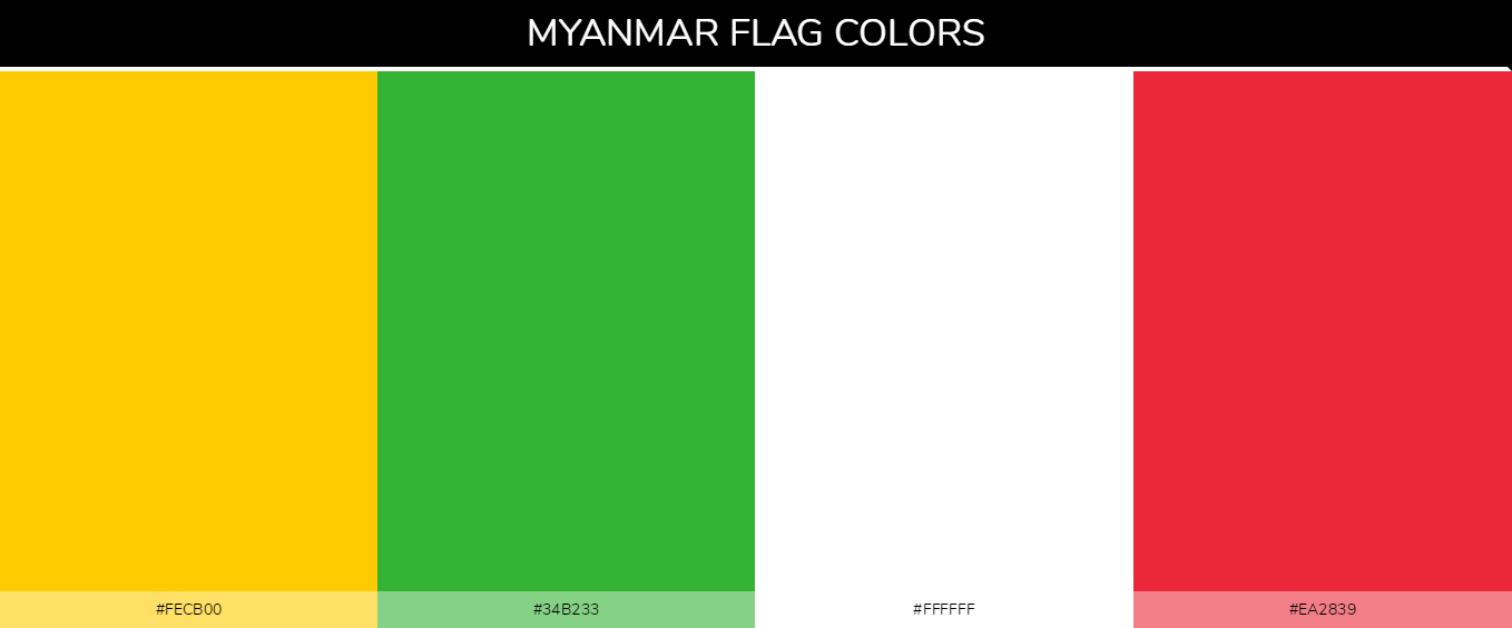 Color Palettes Of All Country Flags 125