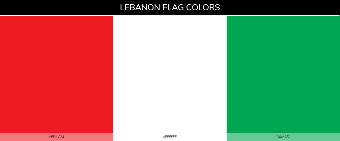 Color Palettes Of All Country Flags 127