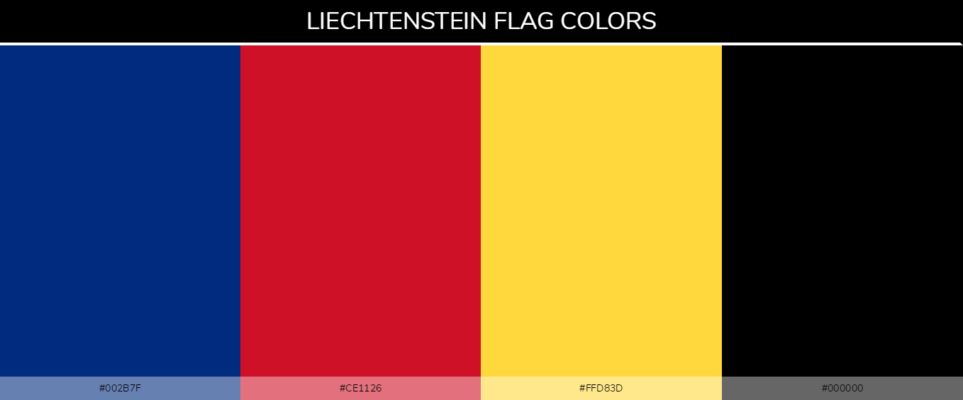 Color Palettes Of All Country Flags 130