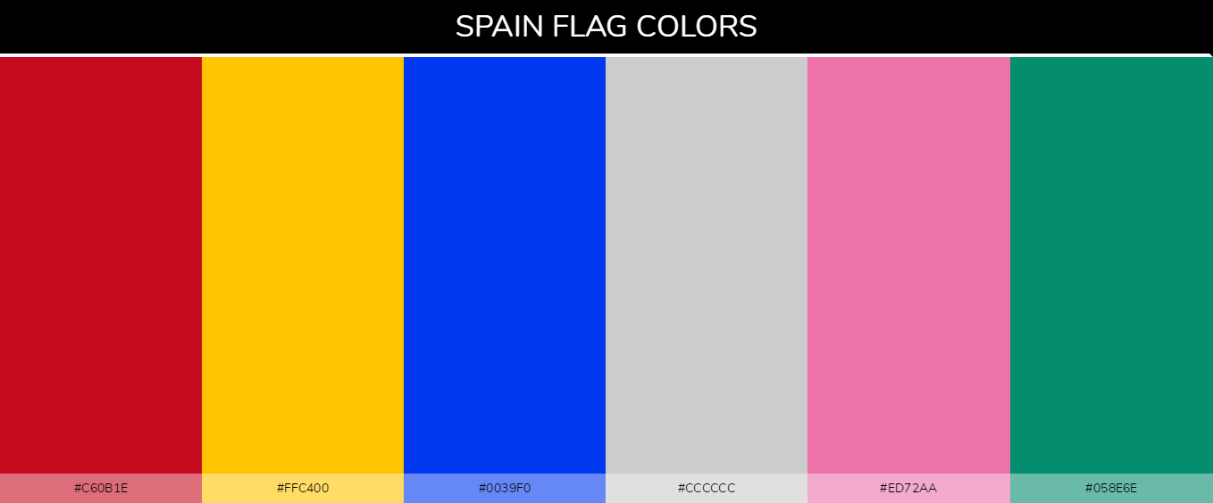 Color Palettes Of All Country Flags 182