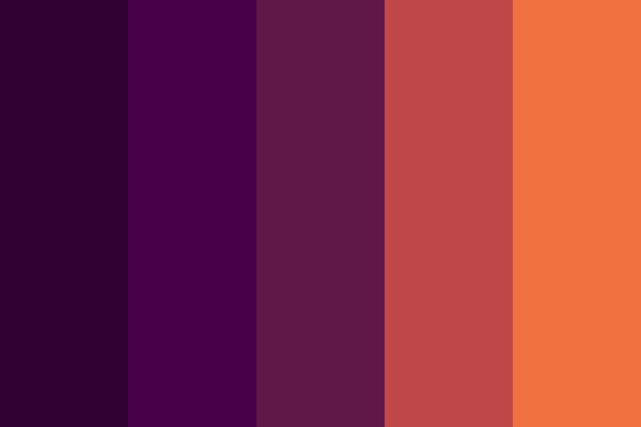 Colored Dark Sunset Color Palette