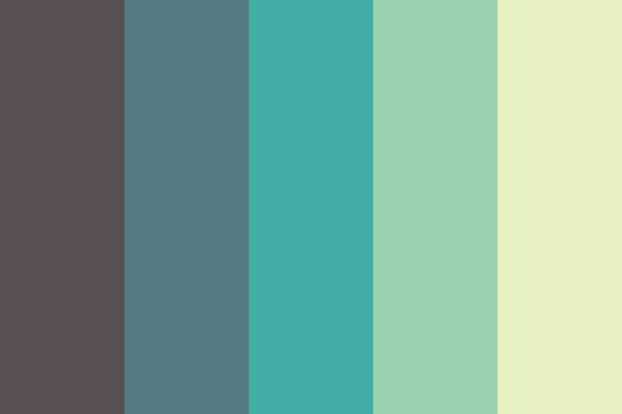 Colors Of The Green Sea Color Palette