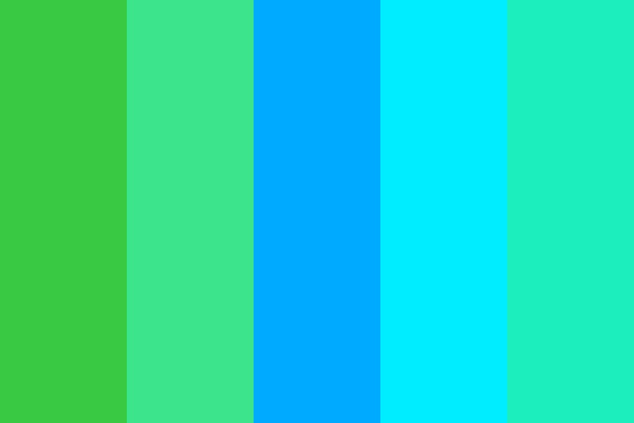 Common Seawing Greens, And Blues Color Palette