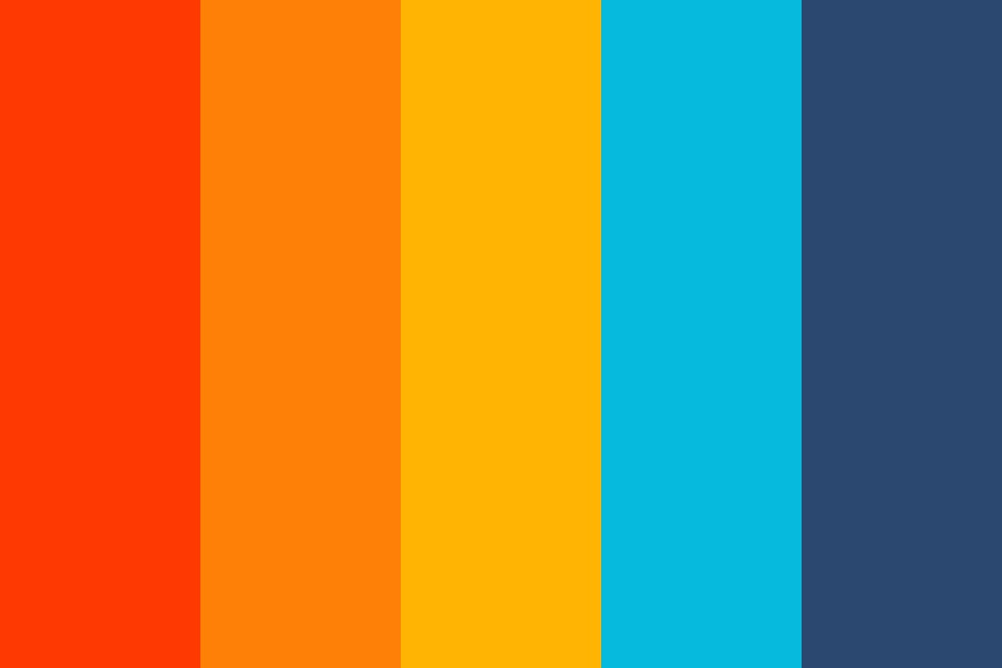 Complementary  Orange To Blue Color Palette