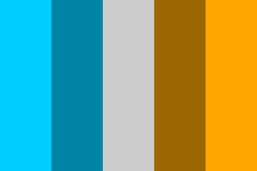 Complementary Colours   Cyan And Orange Color Palette
