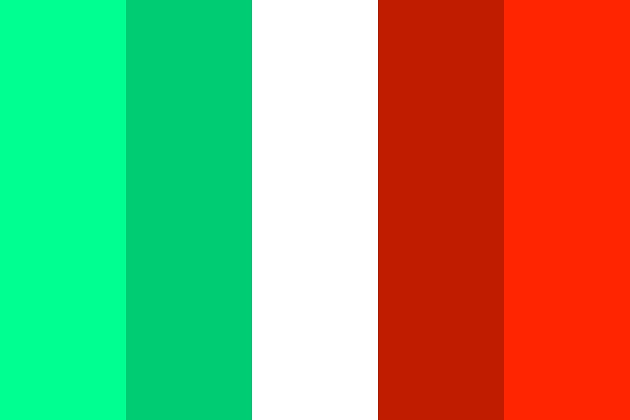 Complementary Colours   Mint And Red Color Palette