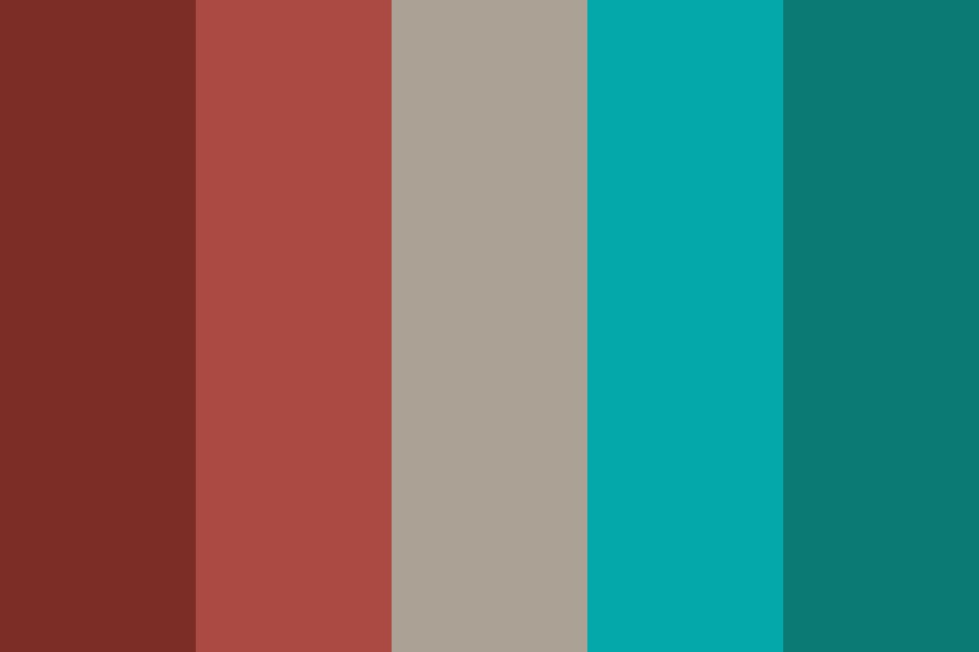 Contrast Red And Teal Color Palette