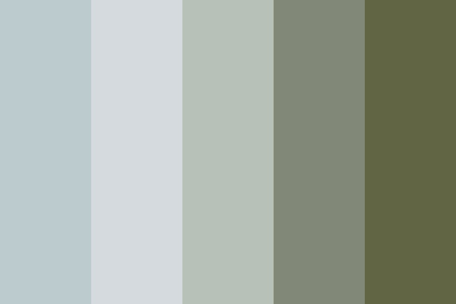 Cool Foggy Mornings Color Palette