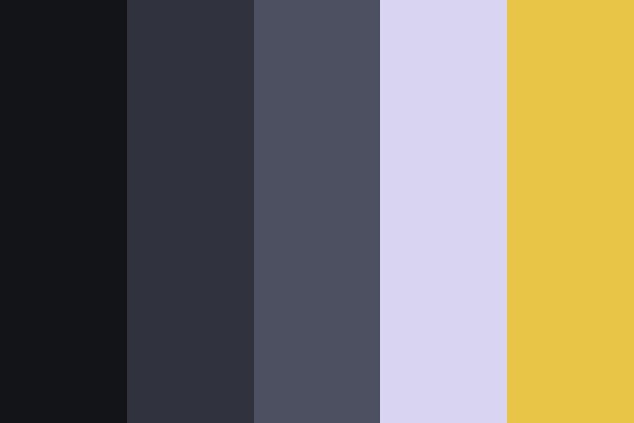 Cool Grays And Yellow Color Palette