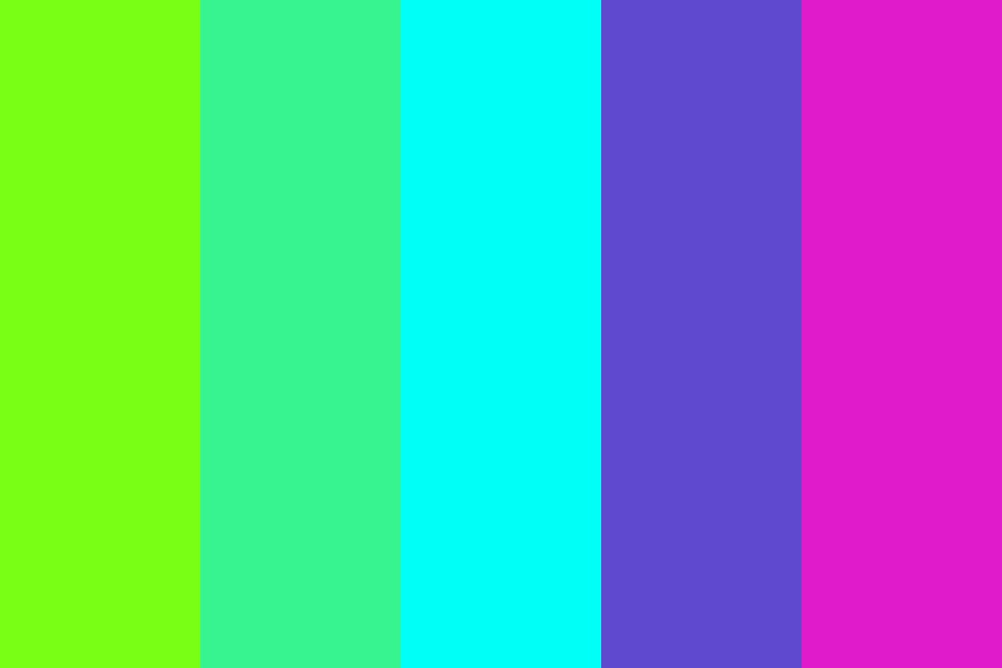Cool Neon Night Color Palette